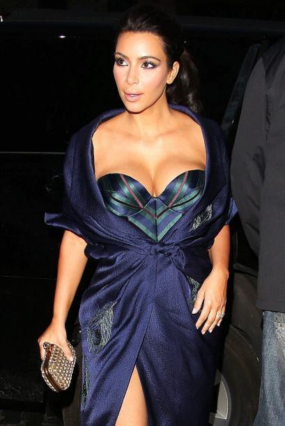 Después de la boda Kim fue muy señalada al mostar su ropa íntima por la...