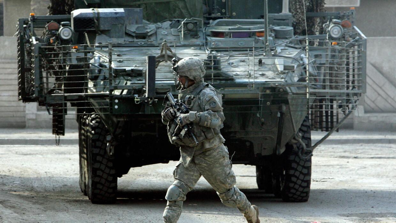 Soldado estadounidense en Siria.