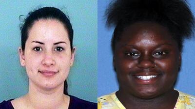 Gabriella Del Carmen García y Fatima Saywer fueron arrestadas por la pol...