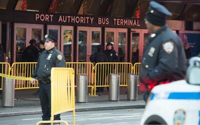 La explosión se registró en este terminal de autobuses de...