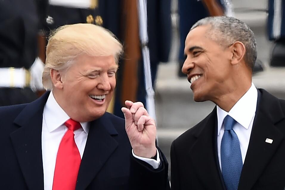 Trump Obama Inauguration Day
