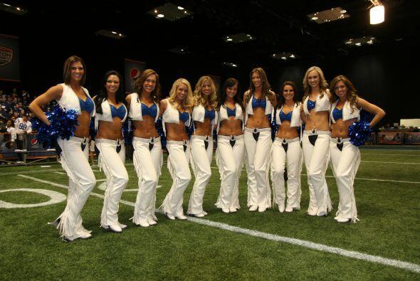 Una imagen para el recuerdo, todas las porristas de los Colts juntas.