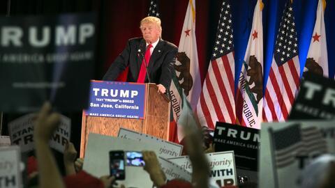 Donald Trump en San Jose, California, el 2 de junio de 2016.