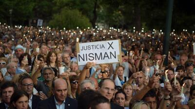 Protestan por la muerte de Nisman.