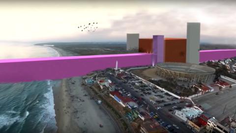 El imaginario muro rosa en la esquina de Latinoamérica.