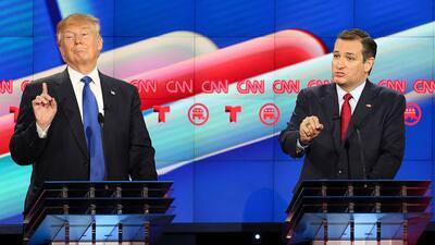 """Activistas quieren recordar en una valla publicitaria cómo Trump atacó varias veces a """"Ted el Mentiroso"""" Cruz"""