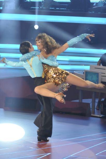 Raquel es una bailarina muy profesional y así lo demostró cuando fue par...