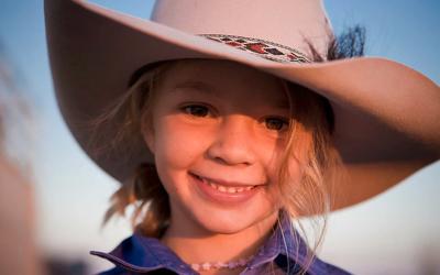 Amy Jane Everett cuando tenía 6 años.