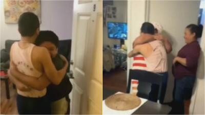 El emotivo reencuentro entre un joven beneficiario de DACA y su familia tras durar más de dos meses detenido