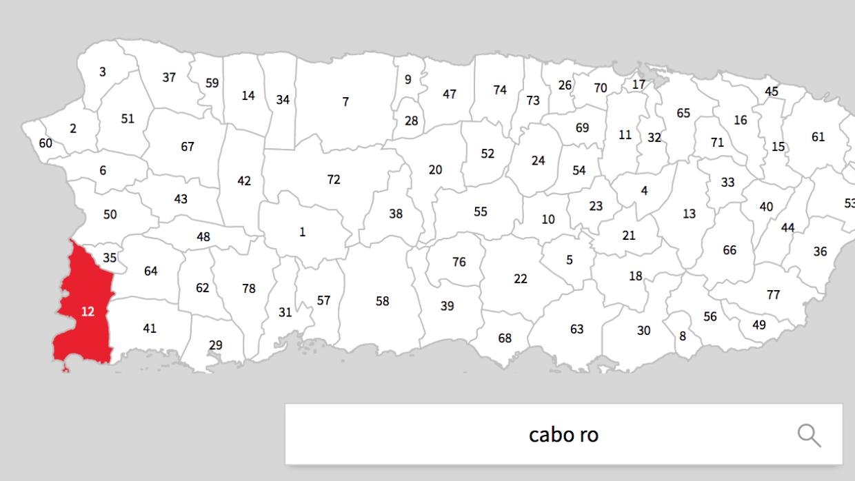 La imagen muestra lo que presuntamente es una zona inudada en Cabo Rojo...