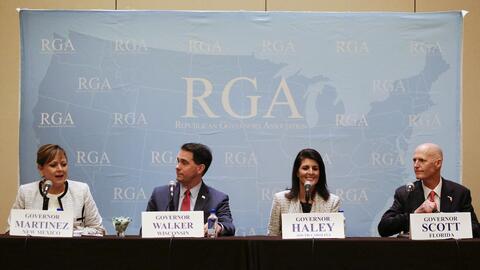 Gobernadores republicanos reunidos en Florida