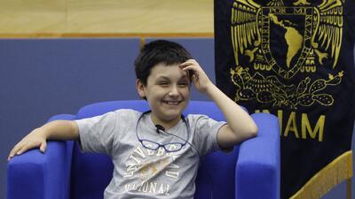 Tiene 12 años y será el alumno más joven de la Facultad de Ciencias de la universidad más grande de México