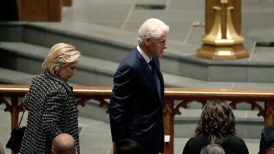 En fotos: Expresidentes y personalidades asisten al funeral de la exprimera dama Barbara Bush
