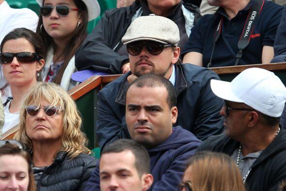 Rostros conocidos en las gradas en el duelo de Tsonga, el actor Leonardo...