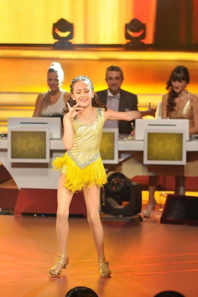 La pequeña gigante Nicole demuestró que ama baiar.