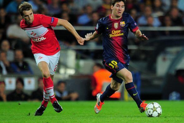 Uno de los candidatos al título de la Champions League, el Barcelona, hi...