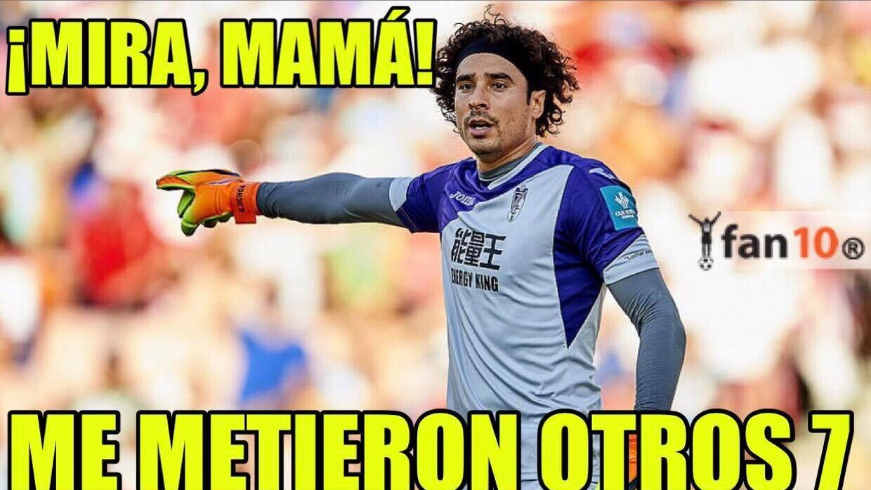 Guiilemor OChoa volvió a recibir siete goles en un partido en la...