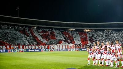 En fotos: así fue el regreso de Estrella Roja a la Champions League tras 26 años