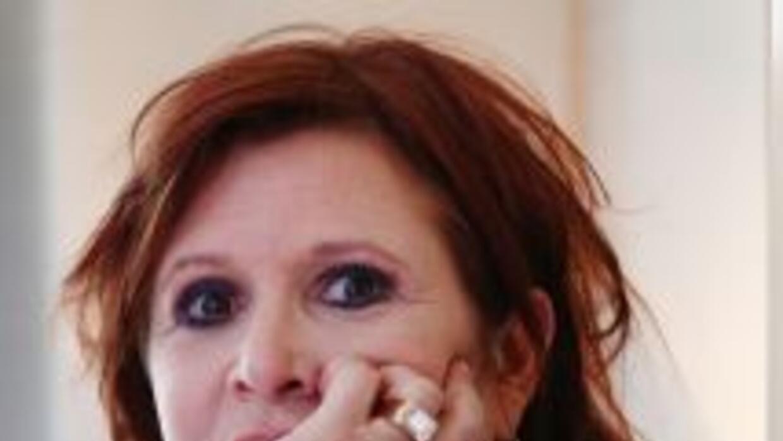 Carrie Fisher confesó que comenzó a consumir cocaína durante el rodaje d...