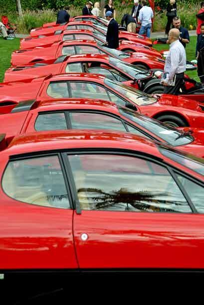 Una muestra del rojo Ferrari para los puristas que piensan que todos deb...
