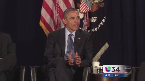Barack Obama habla de adicciones en una convención en Atlanta