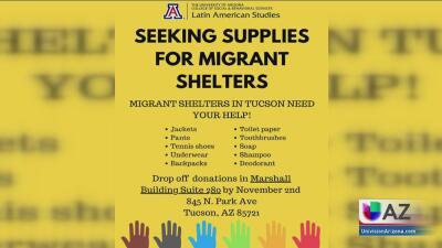 La Universidad de Arizona pide la ayuda de la comunidad para recolectar bienes primarios para los inmigrantes liberados de los centros de detención