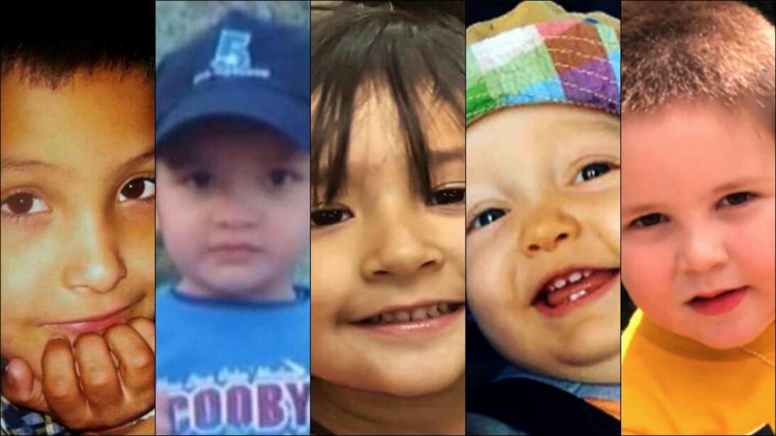 Cinco niños, cinco tragedias.