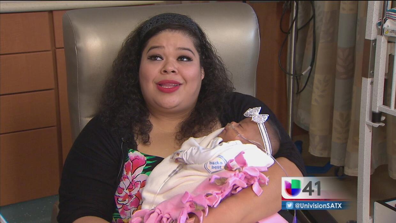 Bebé prematura lucha por su vida
