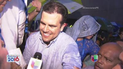 Ricardo Rosselló celebra su victoria como Gobernador de Puerto Rico