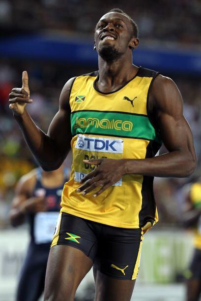 El más rapido del mundo, Usain Bolt, volvió a festejar en el Mundial de...