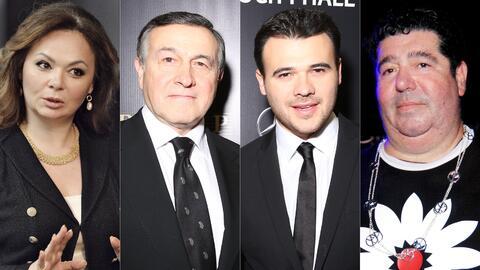De izqda. a dcha. Natalia Veselnitskaya, Aras y Emin Agalarov y Rob Gold...