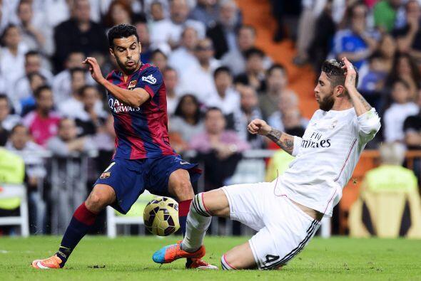 Luis Suárez no pesó y fue sustituido por Pedro.