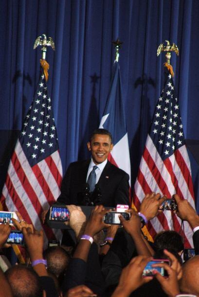 Finalmente el público pudo ver en vivo y en directo al presidente de los...
