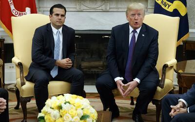El gobernador de Puerto Rico, Ricardo Rosselló, pidió nuev...