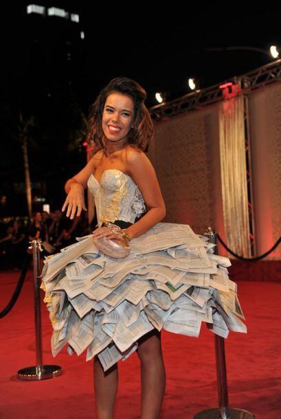 La española Beatriz Luengo dejó boquiabierto al público con su vestido s...