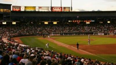El Round Rock Express juega en el Dell Diamond en Round Rock, Texas.