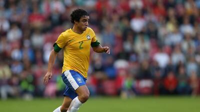 Rafael da Silva en un partido con la Canarinha durante los Juegos Olímpicos
