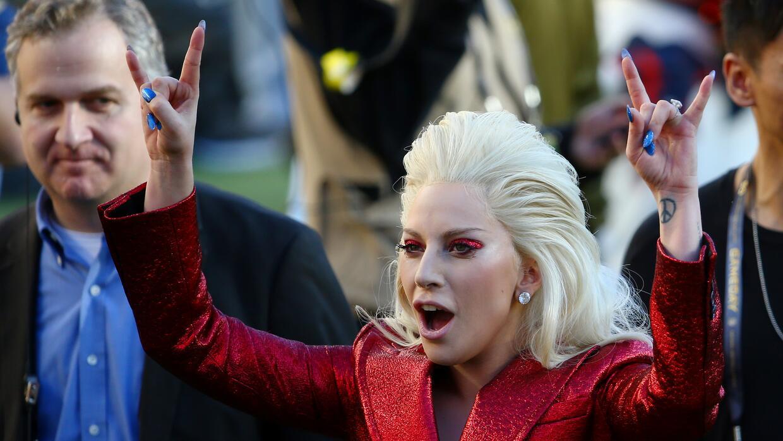 El público celebró la interpretación de Lady Gaga.