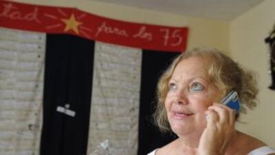 La líder del grupo disidente cubano Damas de Blanco, Laura Pollán, padec...