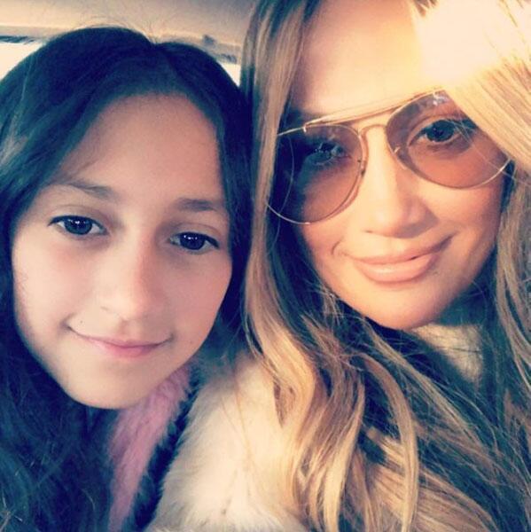 Jennifer Lopez y su hija Emme