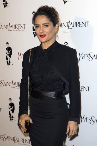 La cinturita de Salma Hayek fue protagonista en el reconocido evento de...