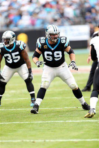 Jordan Gross, tackle ofensivo de los Carolina Panthers (AP-NFL)