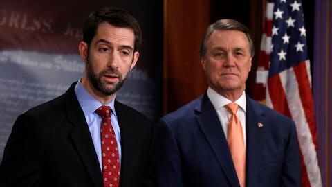 Senadores republicanos buscan apoyo de Trump sobre proyecto de reforma m...