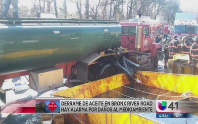 Vehículo provoca derrame de combustible en Yonkers, hay alarma por daños...