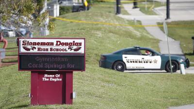 Escuela Stoneman Douglas, en Parkland, Florida, donde un exalumno armado...