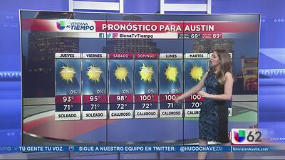 Continúan temperaturas cálidas en Austin