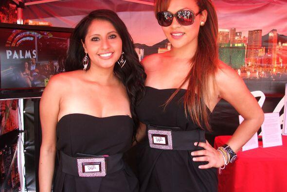 Las bellas modelos fueron también la sensación en el evento.