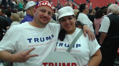 Evelio y Belkeys Vergara, cubanoamericanos, votarán por Trump en Nevada