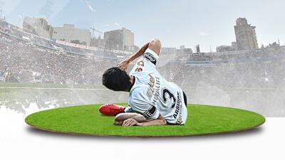La impactante lesión de Alejandro Arribas a fondo.