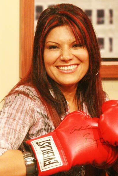 Diana aprovecha para posar como una verdadera boxeadora.